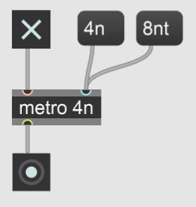 【Max】定期的なタイミングを送るmetroの使い方