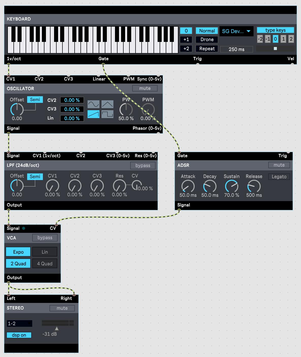 【Max 8】BEAPで簡単なシンセサイザーを作る