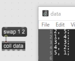 【Max 8】collのデータをソーティングする