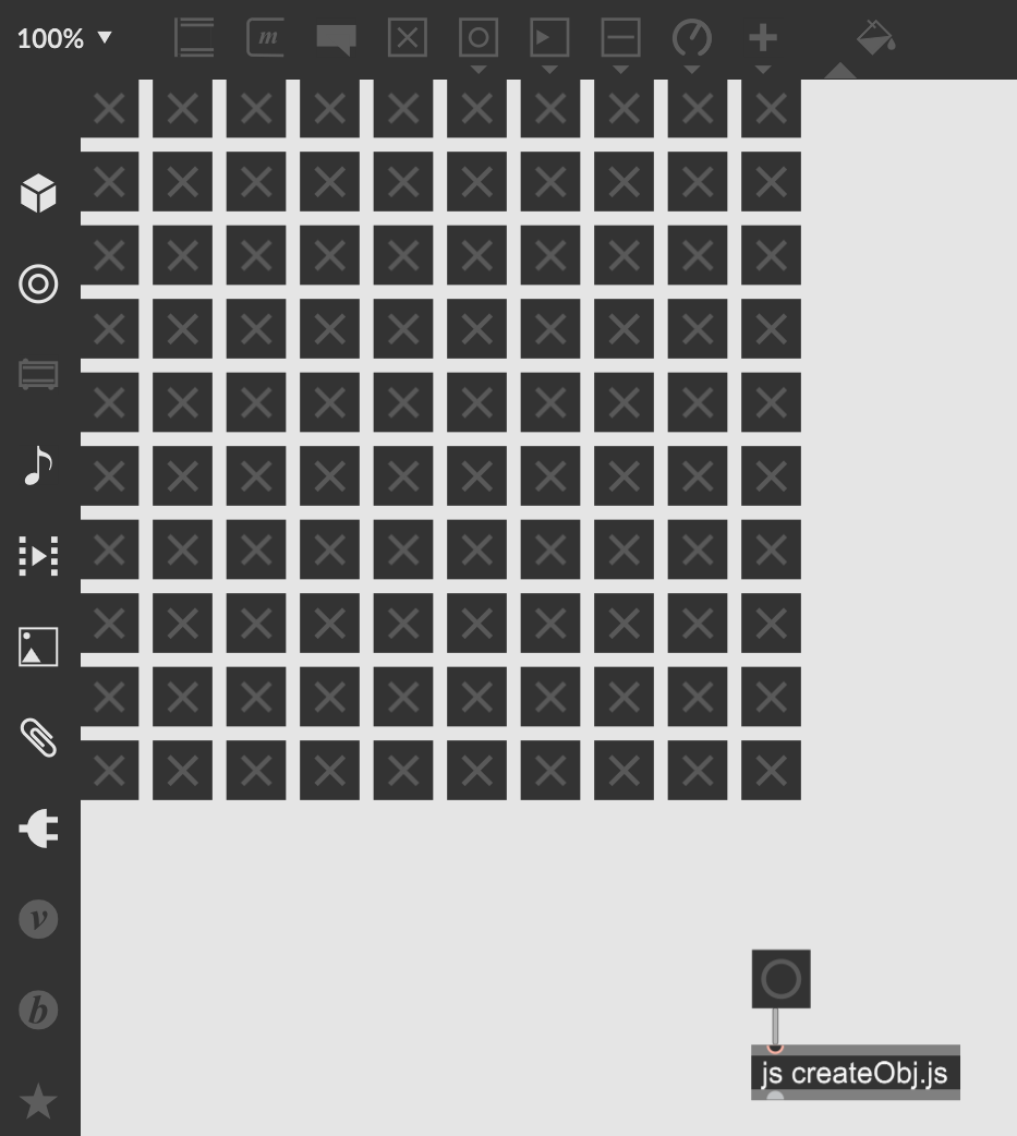 【Max】JavaScriptからオブジェクトを生成する